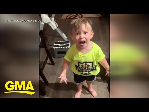 2-year-old complains when mom forgets to say goodbye l GMA