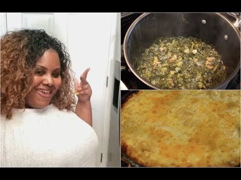 Cooking Collard Greens & Mac N Cheese For Daym Drops - I Heart Recipes