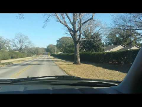 Driving passed Fort Rucker Elementary School on our way to the old Commissary and the PX.