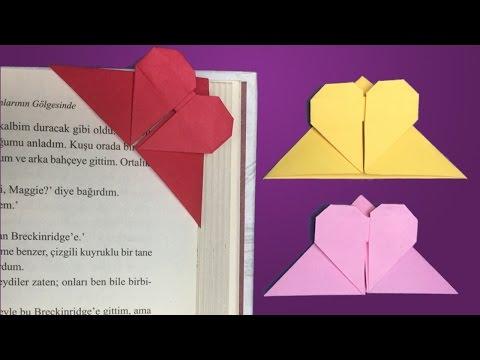 Kalp Kitap Ayracı / Nasıl Yapılır ? / Origami