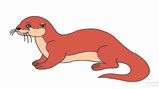 How to draw an Otter easy and simple drawing(also for kids)