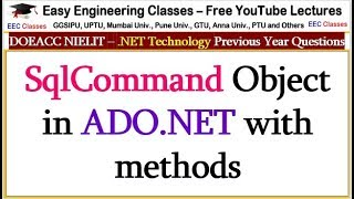 SqlCommand Object in ADO.NET with methods - .NET Technology Lectures