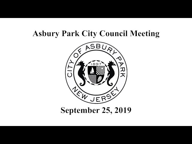 Asbury Park City Council Meeting - September 25, 2019