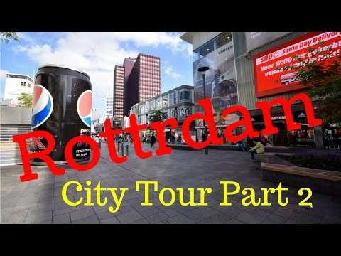 Rotterdam, The Netherlands.. Walking City Tour (Part 2/12) Binnenwegplein