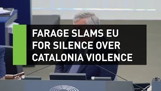 Farage goes in on Juncker over Catalonia violence