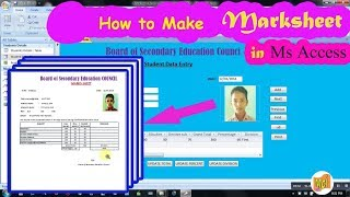 How to make Mark-sheet in Ms Access |multiple marksheet | Part-4