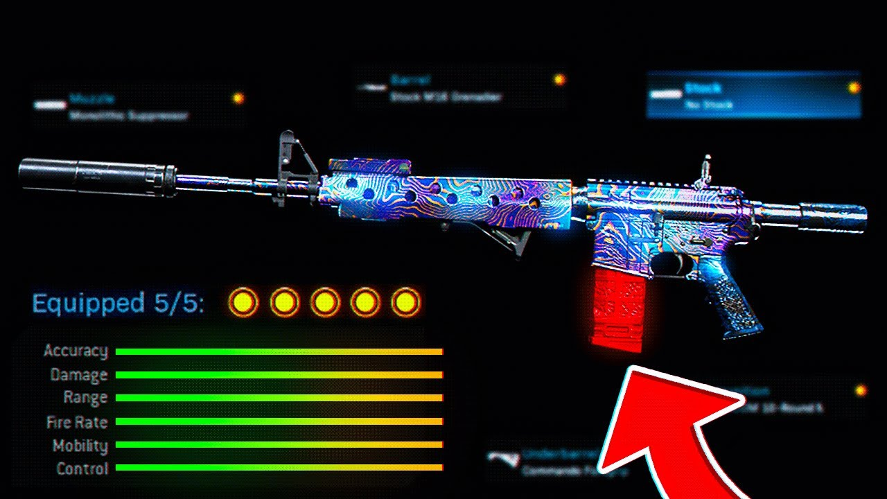 2 SHOT BEST M4A1 Class Setup in Modern Warfare! (COD Warzone)