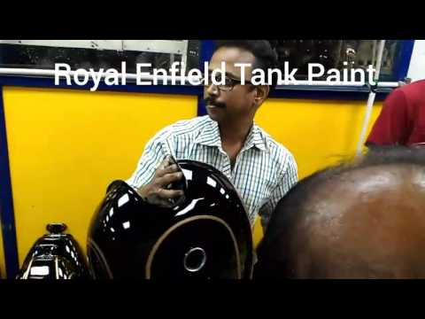 Royal Enfield tank painting