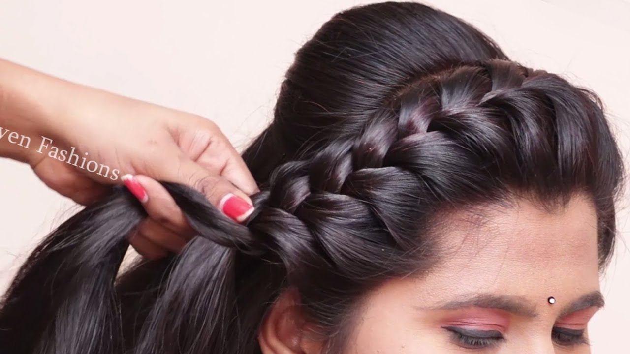 Traditional Hairstyles For Saree Easy Beauitful Hairstyles Party Wedding Hairstyles