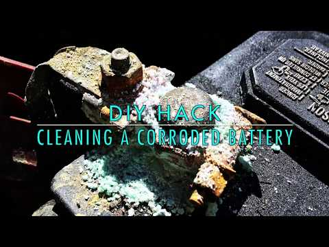 Cleaning a Corroded Battery