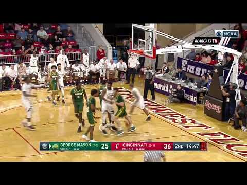 Men's Basketball Highlights: Cincinnati 71, George Mason 55 (Courtesy CBS Sports)