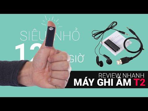 Review Và Hướng Dẫn Sử Dụng Nhanh Máy Ghi âm Mini Siêu Nhỏ T2