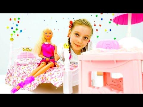 Кукольный домик для БАРБИ! Игры дизайн для девочек. Видео мастер класс, распаковка мебели для кукол