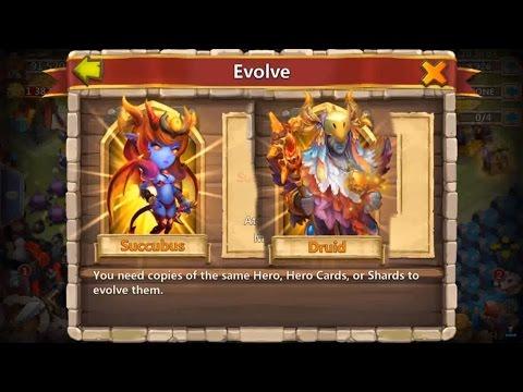 Castle Clash E20, Druid Evolving Succubus Evolving  Android GamePlay HD