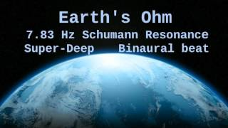 Earth's Ohm, 7.83 Hz Deep Theta Binaural Beat ( Schumann Resonance for 6 Hours )