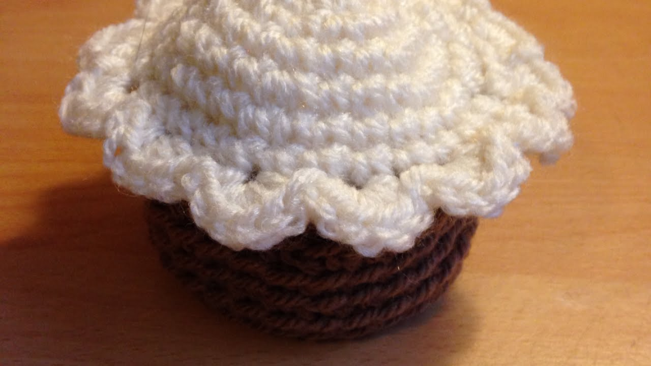 Make A Crochet Cup Cake Crafts Guidecentral Youtube