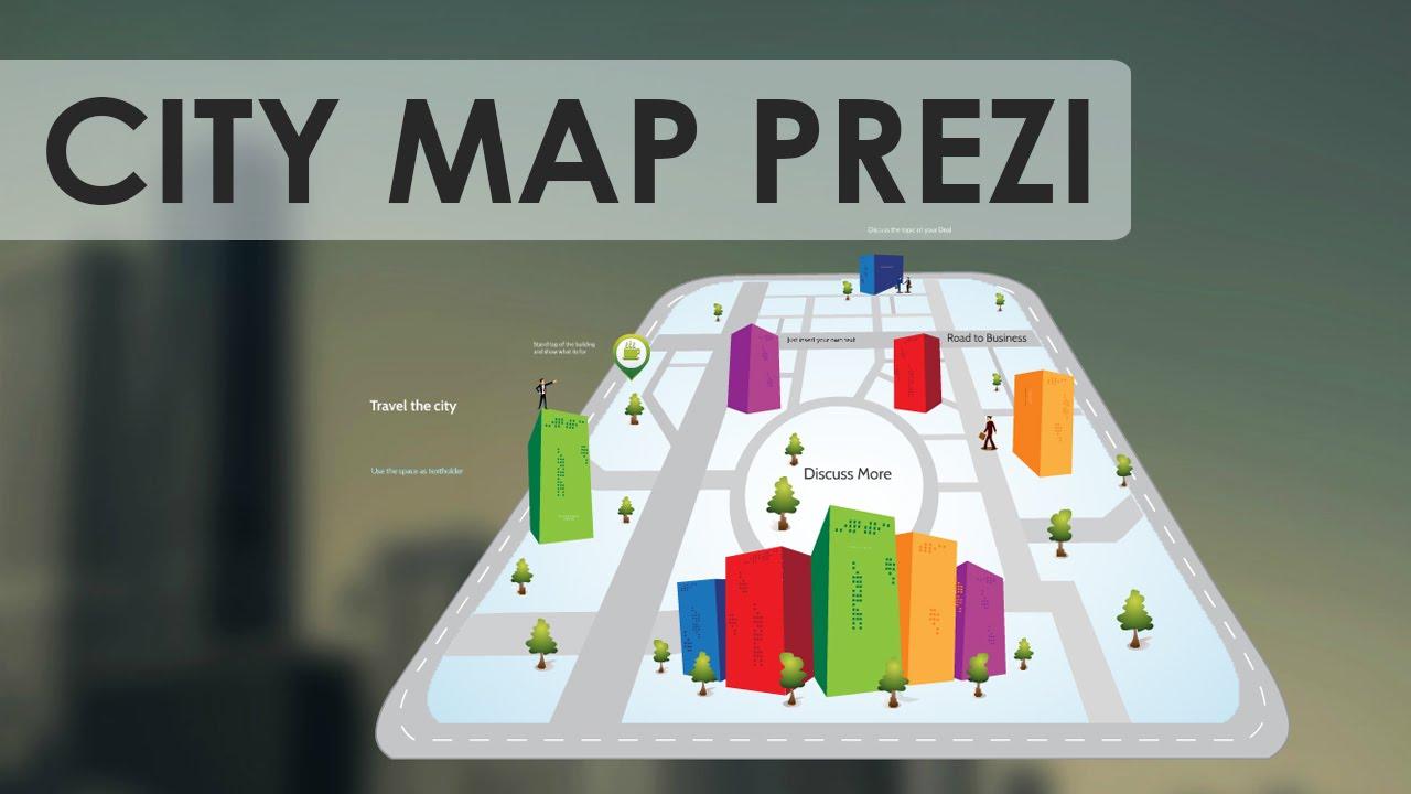 city map - prezi template - youtube, Powerpoint templates