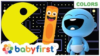 Pacman VS Color Crew & GooGoo GaGa | Toddler Learning Video | My Color Friends | BabyFirst TV