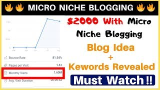 Micro Niche Blog Case Study | Earn $2000/Month By Micro Blogging | Less Effort More Revenue