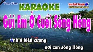 Gửi Em Ở Cuối Sông Hồng - Karaoke HD Nhạc Sống Tùng Bách