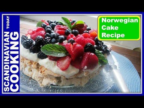 Norwegian Cake Recipe - Kvæfjordkake - How To Make The World's Best Cake!