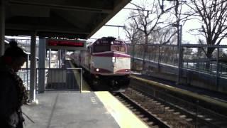 MBTA Conmuter Rail arriving at South Aeboro