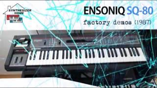 ENSONIQ SQ-80 factory demo songs (1987)