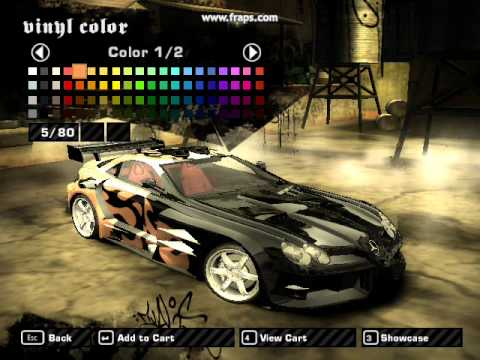 Nfs Most Wanted Tuning Mercedes Slr Maclaren Youtube