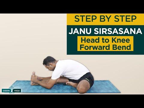 Janu Sirsasana (Head to Knee Forward Bend Pose) Benefits, How to Do by Yogi Sandeep Siddhi Yoga