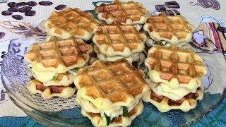 Чикенбургеры в клетку. Рецепт для мультипекаря и электровафельницы для мягких вафель.