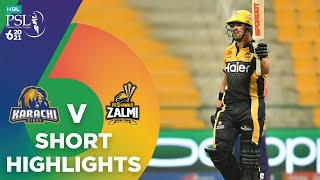 Short Highlights | Karachi Kings vs Peshawar Zalmi | Match 24 | HBL PSL 6 | MG2T