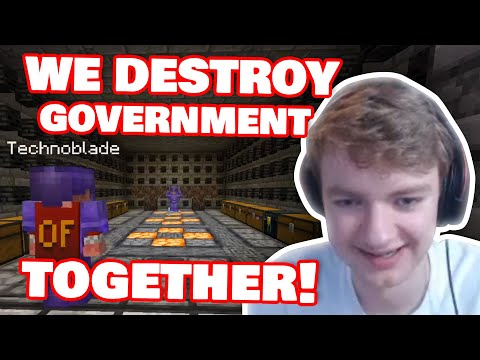 Technoblade TEAM UP With Tommy To Destroy Government! DREAM SMP