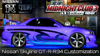 Midnight Club 3 DUB Edition - Nissan Skyline GT-R Customization