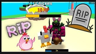 *GIVEAWAY* Killing Chickens in Roblox...