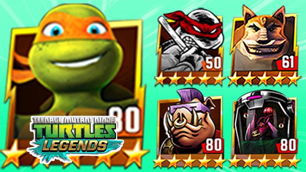 TMNT Legends Michelangelo, Donatello, Dogpound, Bebop Classic, Mutagen Man