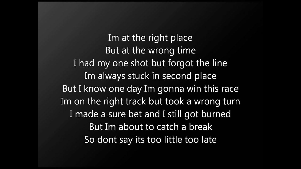 Late In The Day Lyrics