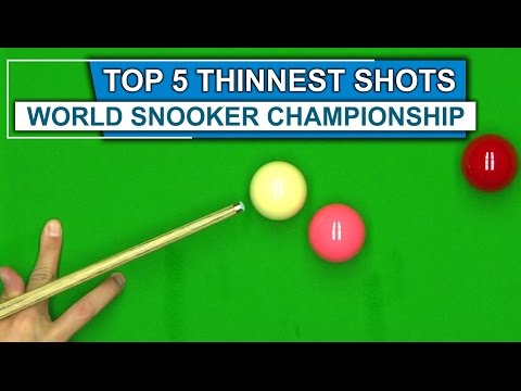 PAPER THIN | TOP 5 THINNEST SHOTS World Snooker Championship 2016