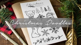 How to Draw Cute Christmas Things | Doodle with me!