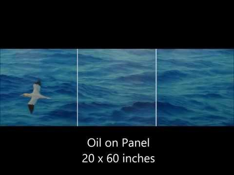 The Crossing: Painting the ocean in oil.