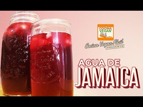 Agua de jamaica - Cocina Vegan Fácil