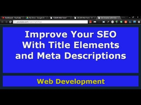 Improve SEO with Title Tags and Meta Description