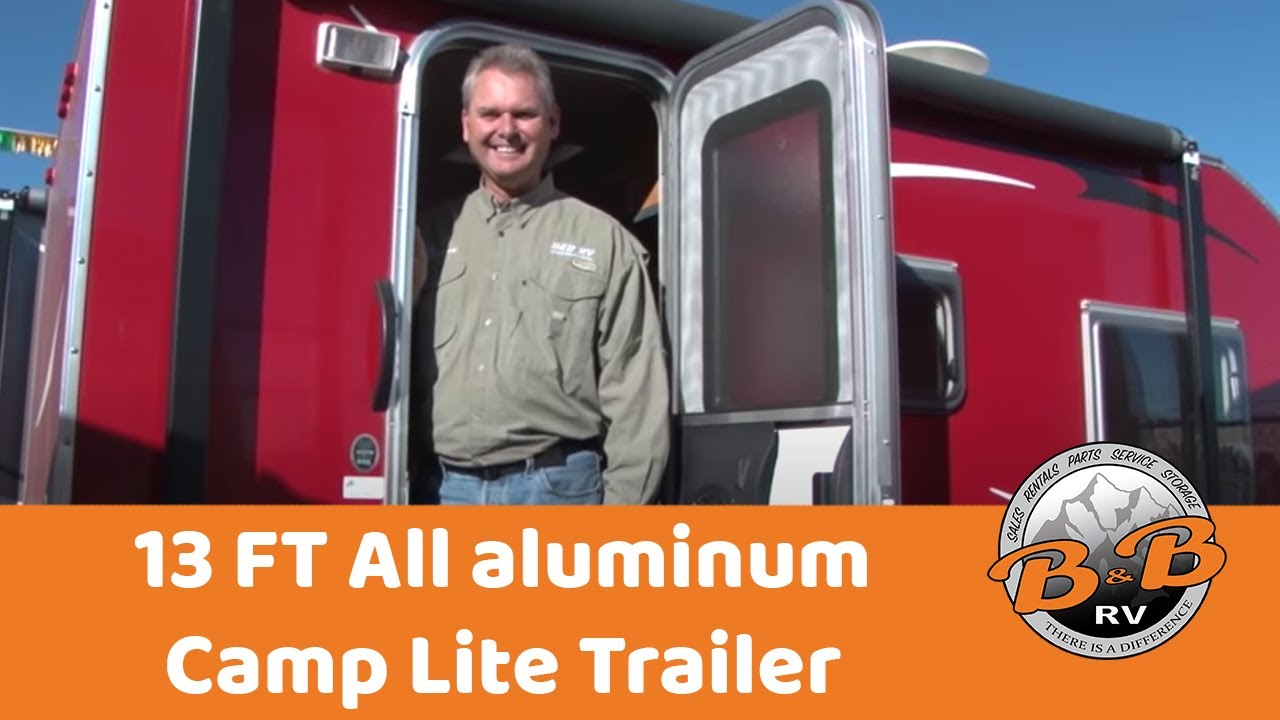 13 FT All aluminum Camp Lite trailer with bunk beds