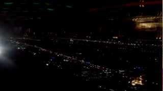 Vistas nocturnas desde el  Burj Al Arab
