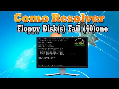 💾 Como Resolver Floppy Disk(s) Fail (40)one
