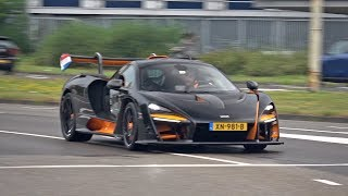 $1.25 Million McLaren Senna MSO - Accelerating & Fast Fly By's on Track!