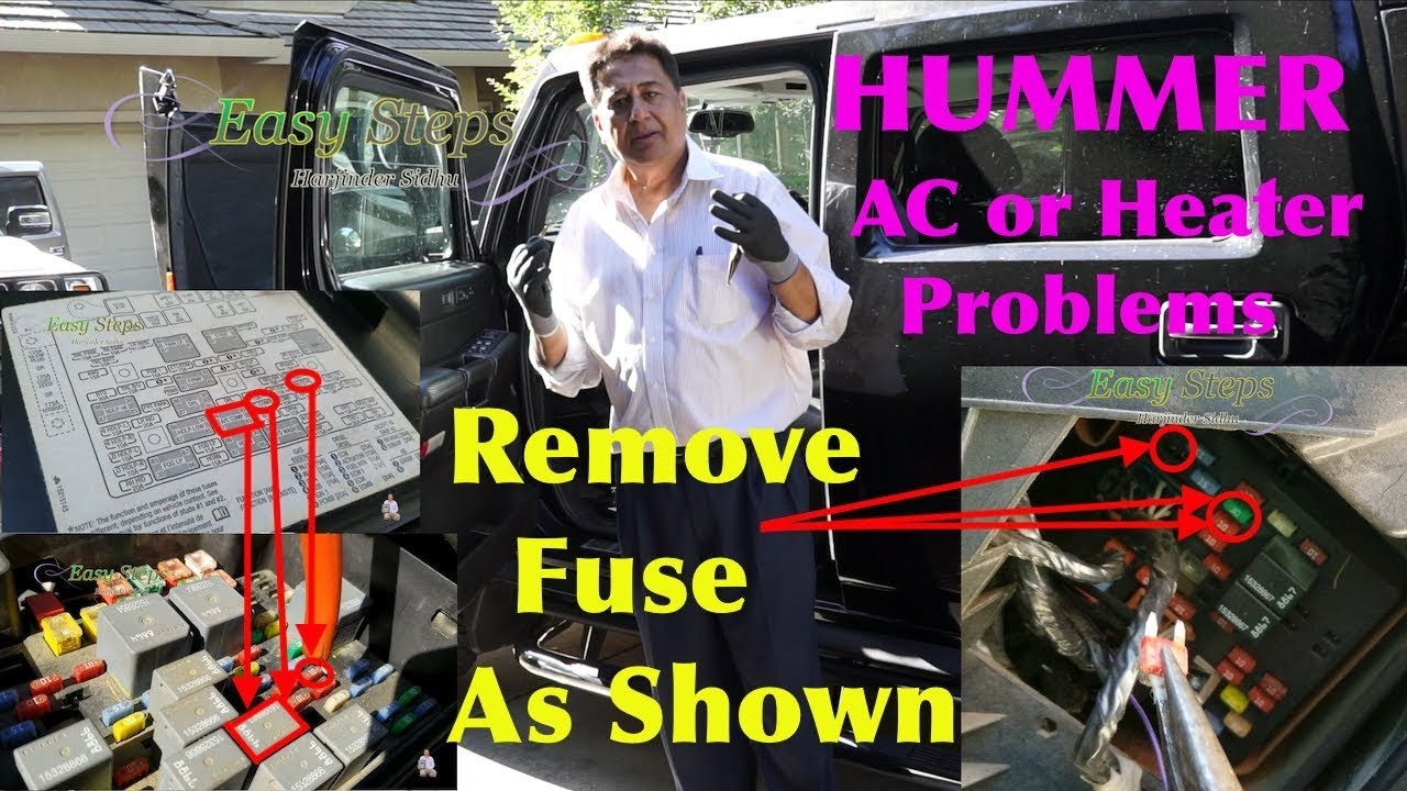 how to fix ac blowing hot and cold air hummer ac or heater temperature problems [ 1280 x 720 Pixel ]