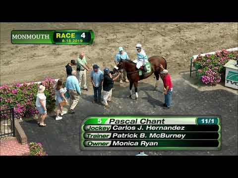video thumbnail for MONMOUTH PARK 8-18-19 RACE 4