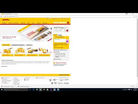 DHL Shipping Tracking Number