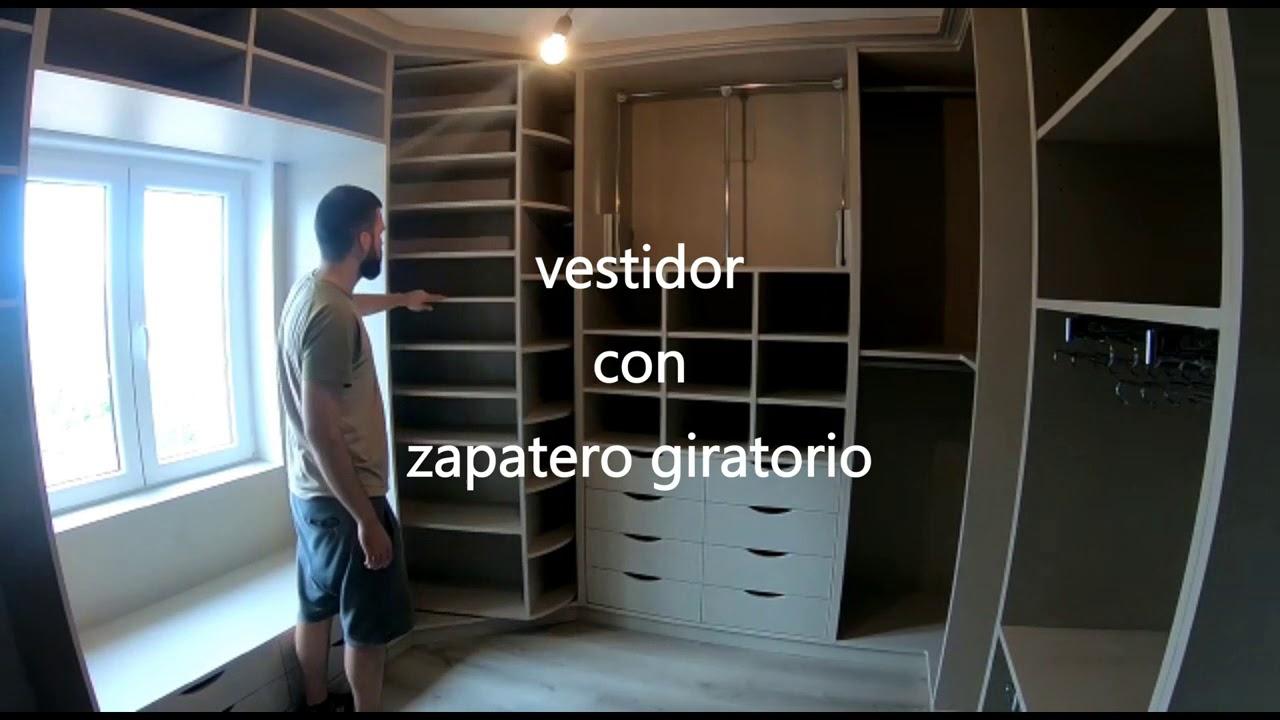 Custom Furniture Wardrobe With Rotating Shoe Rack
