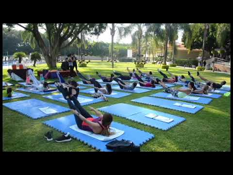 Clase de pilates XXIV Aniversario Club Valle Real
